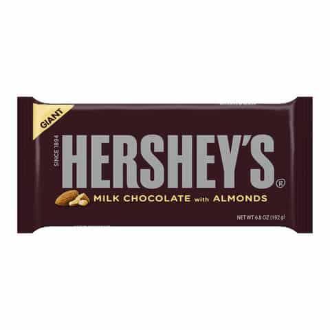 Hershey's Milk Chocolate with Almonds Giant Bar