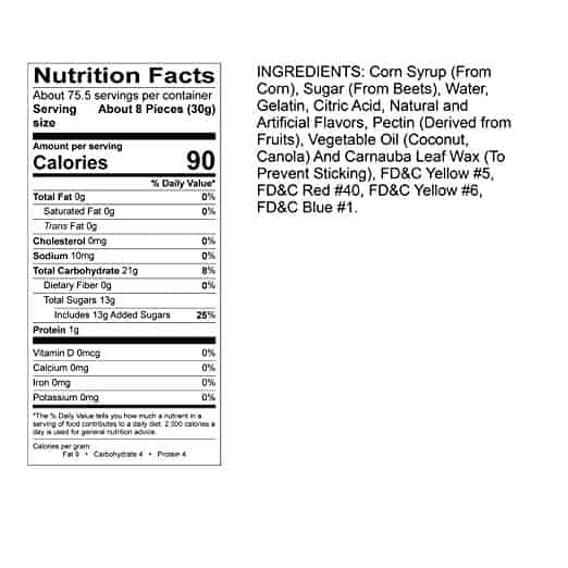 Albanese Gummy Bears Nutrition Facts
