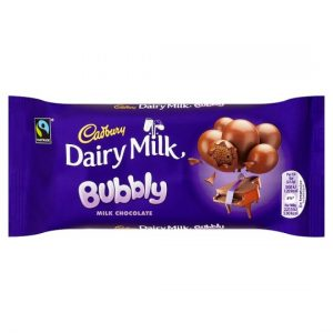 Cadbury Dairy Milk Bubbly Chocolate Bar 90G