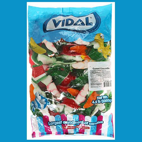 Vidal Gummy Crocodiles Bulk