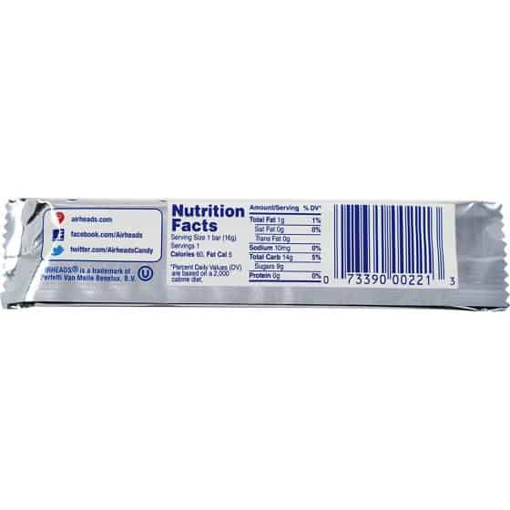 Airheads White Mystery Nutrition Facts