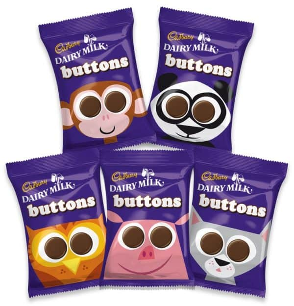 Cadbury Dairy Milk Buttons 5 Pack