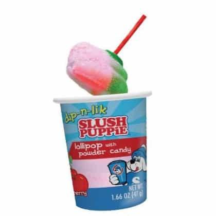 Slush Puppie Lollipop with Powder Candy