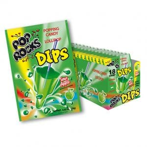 Pop Rocks Dips Green Apple