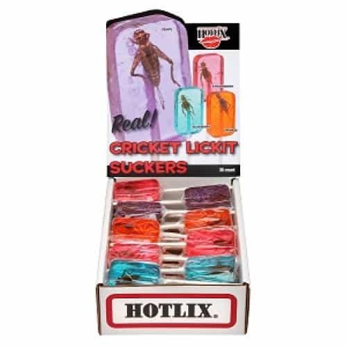 Hotlix Cricket Lickit Suckers Assorted