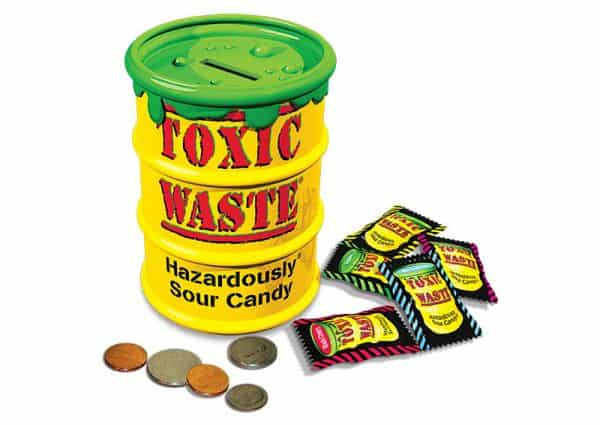 Toxic Waste Sour Candy Coin Bank