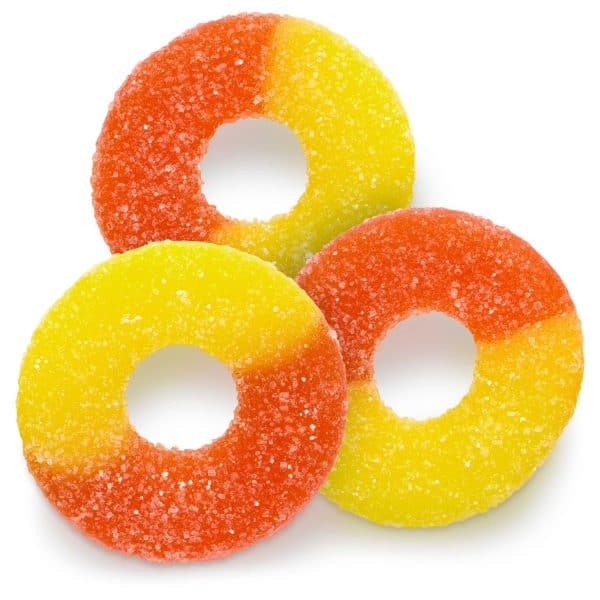 Albanese Peach Gummi Rings