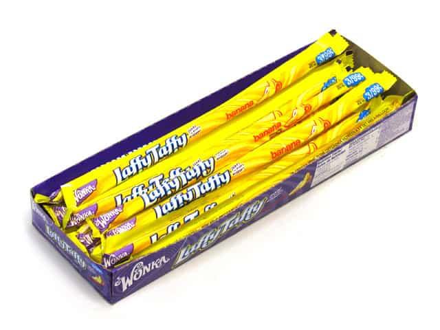 Wonka Laffy Taffy Rope Banana (24 Count) Pre Priced 3/$.99