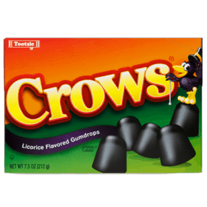 Crows Licorice Flavoured Gumdrops Theatre Box (12 Count)
