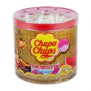 Chupa Chups The Best of Cream Cola Fruit Lollipops 60ct