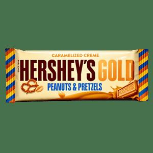 Hershy gold w peanut & pretzles