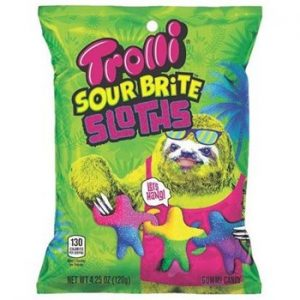 Trolli peg bag sour brite sloths 12ct
