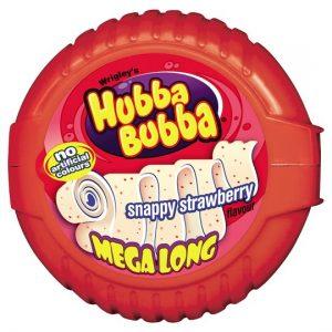 Hubba Bubba Snappy Strawberry Mega Long Bubble Tape