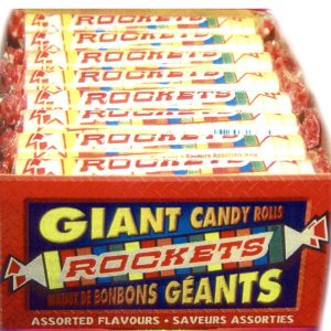 Giant Rockets Candy Rolls