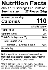 Jelly Belly Nutritional Facts
