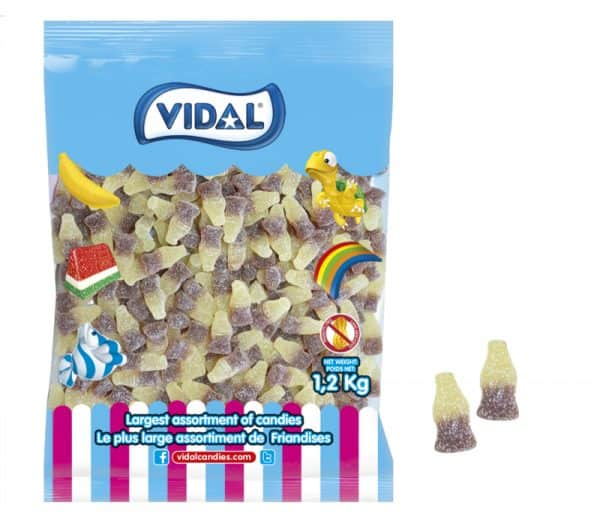 Vidal Sour Cola Gummy Bottle 1.2 kg