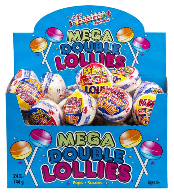 Rockets Mega Double Lollies 24ct