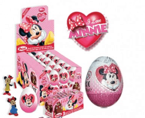 Disney I Love Minnie Chocolate Surprise Egg 24ct