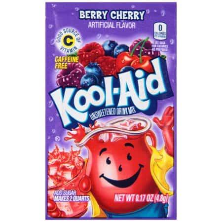 Kool-Aid Unsweetened 2QT Berry Cherry Drink Mix