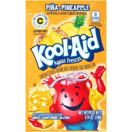Kool-Aid Unsweetened 2QT Pina- Pineapple Drink Mix