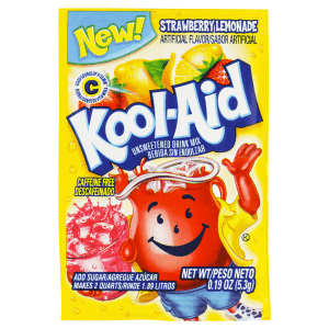 Kool-Aid Unsweetened 2QT Strawberry Lemonade Drink Mix 48ct