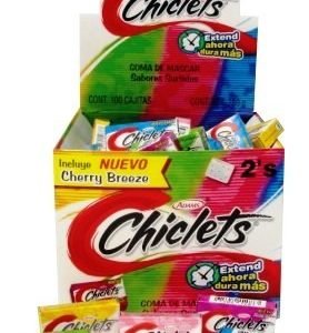 chiclets surtido 100ct