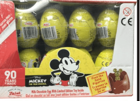 Disney mickey mouse chcocolate surprise egg24ct
