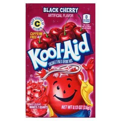 Kool-Aid Unsweetened 2QT Black Cherry Drink Mix
