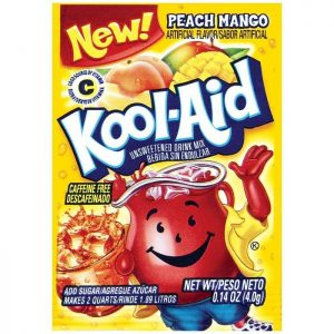 Kool-Aid Unsweetened 2QT Peach Mango Drink Mix
