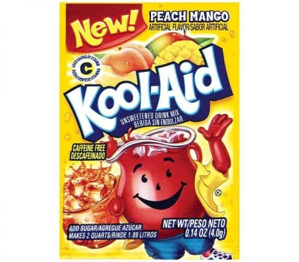 Kool-Aid Unsweetened 2QT Peach Mango Drink Mix