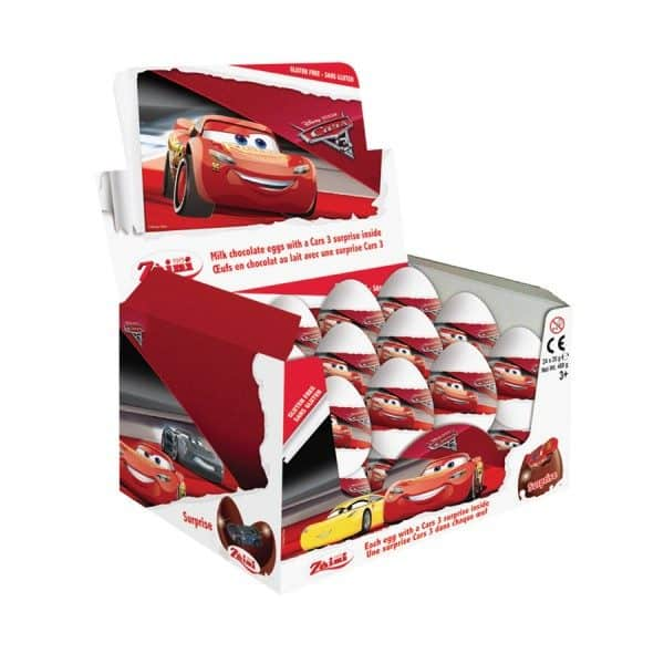 Disney pixer Cars Chocolate Surprise Eggs