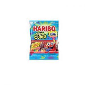 Haribo Peg Bag Zing Sour Cubes 4.5oz 12ct