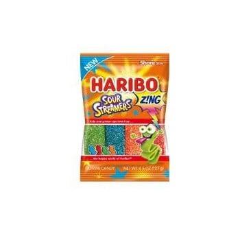 Haribo Peg Bag Zing Sour Streamers 4.5oz 1/12ct
