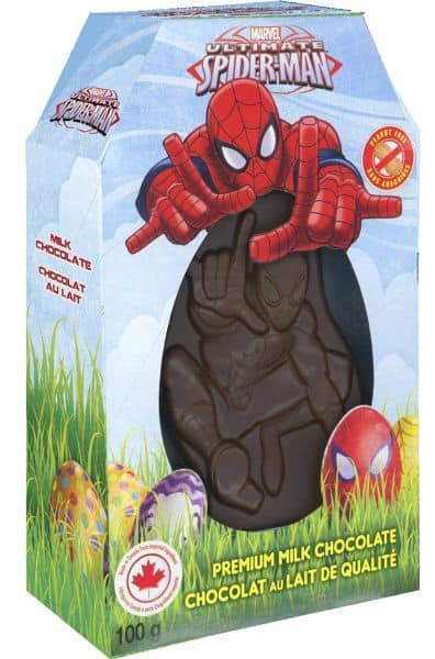 Easter- Spiderman Hollow Choc 100g.x9ct