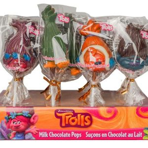Easter TROLLS CHOC POPS - DISPLAY