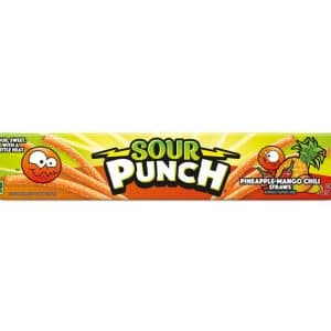 sour punch pineapple mango chili straws 24ct