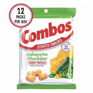 Combos Bag Jalapeno Cheddar Tortilla Cracker 6.3oz 12ct