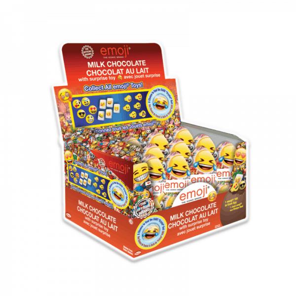 Emoji Choc Surprise Eggs-display 24CT
