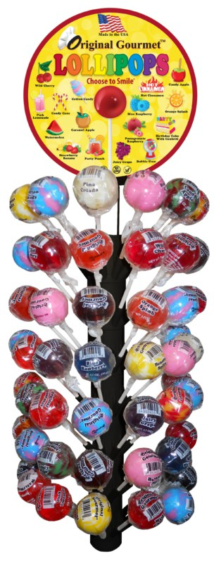 Original Gourmet Lollipop 120 ct Magnetic Display