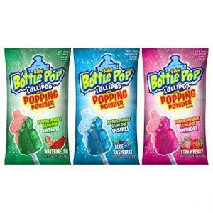 TOPPS BABY BOTTLE POP LOLLIPOP W POPPING CANDY 18CT