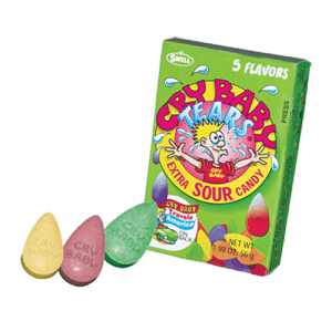 Cry Baby Tears Sour Candy 5 Flavor 1.98oz 24ct