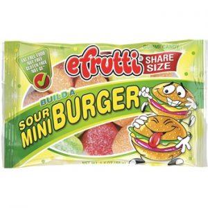 E-Frutti Sour Mini Burger Share Bags 1.40oz 12ct