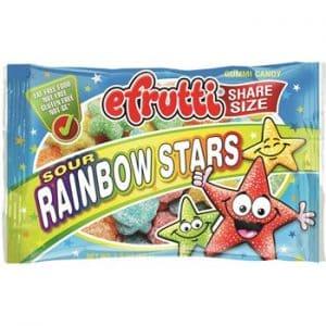 E-Frutti Sour Rainbow Stars Share Bags 1.80oz 12ct