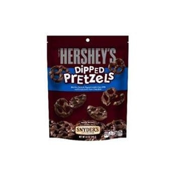 Hershey's Milk Chocolate Dipped Pretzels Peg Bag 4.25oz