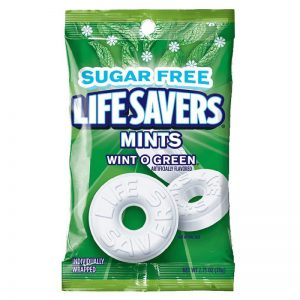 Lifesaver Wint o Green Sugar free 12ct