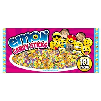World Emoji Candy Sticks Assorted Bag 101ct