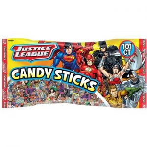 World Justice League Candy Sticks Assorted Bag 101ct